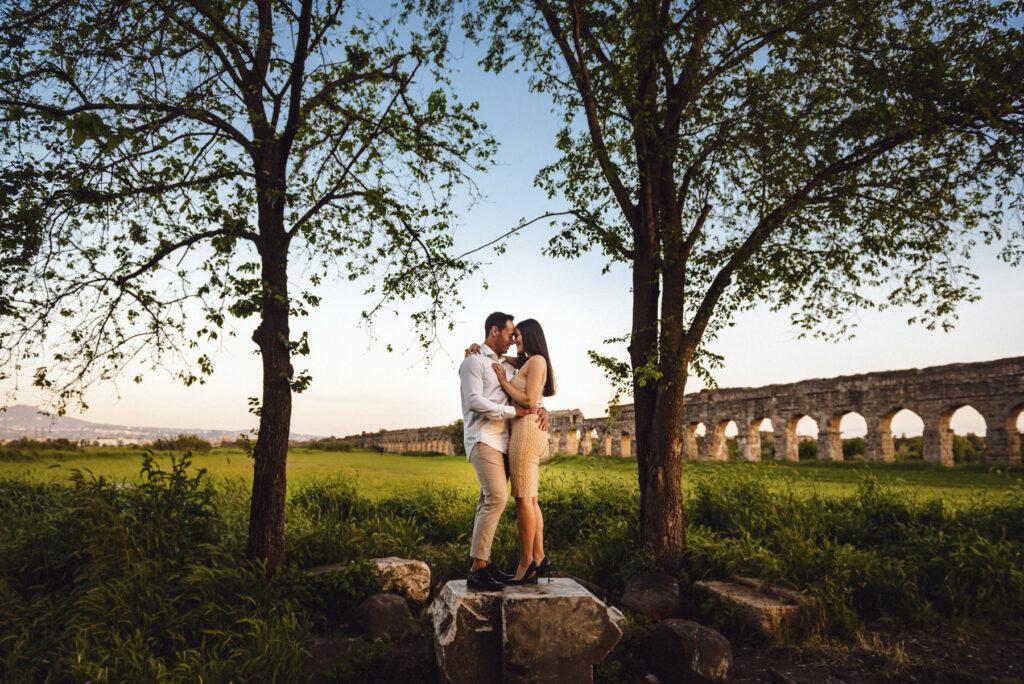 Foto di coppia a Roma: i colori dell'autunno